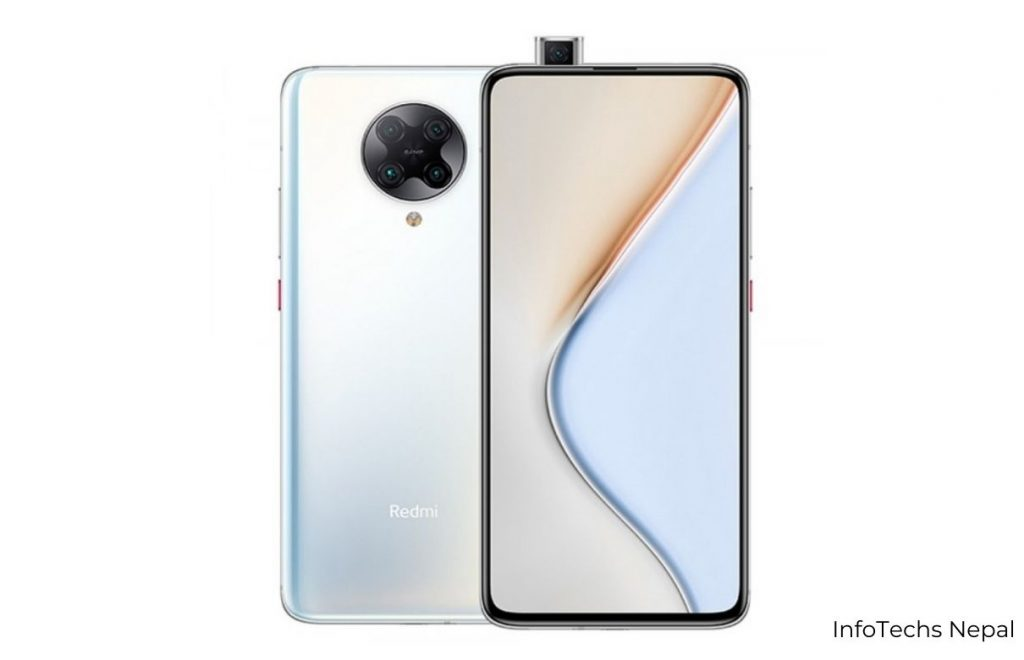 redmi k40 pro with popup camera and silver design