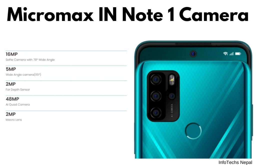 Micromax In Note 1 Camera Display